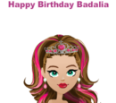 Happy Birthday Badalia
