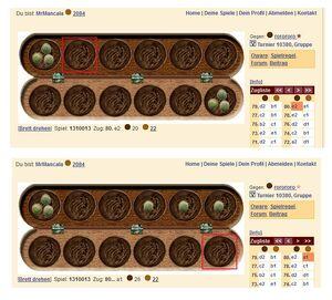 Oware Bug auf Brettspielnetz