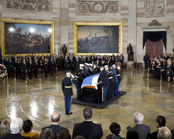Prince Georg lying in state