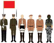 New world north orientalia military uniforms