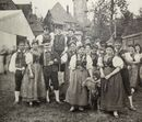 Elsterberg Trachtendarstellung Gruppe vom Hammelkegelfest aus Elsterberg 1897 Voigtland