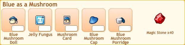 Blue Mushroom Collection