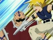 Ginta punching Garon