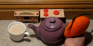 Goomfrey makes a hot drink