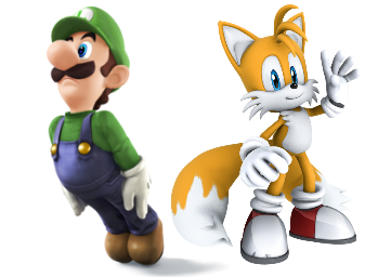 File:Luigi and Tails.png