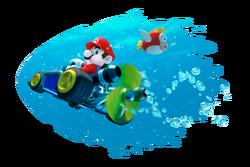 Mario Artwork - Driving Underwater - Mario Kart 7