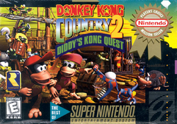 Donkey Kong Country 2 - North American Boxart