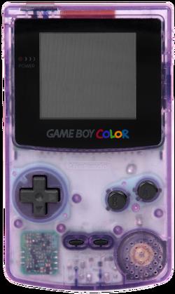 Game Boy Color - Transparent Purple Model