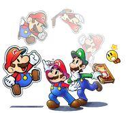 Mario & Luigi Paper Jam Main Cast