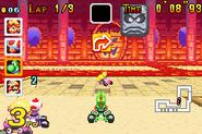 Bowser Castle 1 - Yoshi and Thwomp - Mario Kart Super Circuit