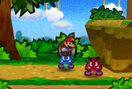 Mario Attacking Blue Goomba