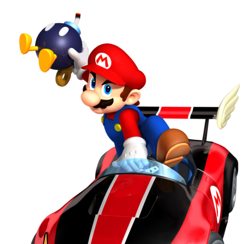 Artwork of Mario in the <b>Wild Wing</b>, holding a Bomb-omb