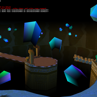 A crystal cave of the course.