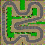 SNES Mario Circuit 3 map