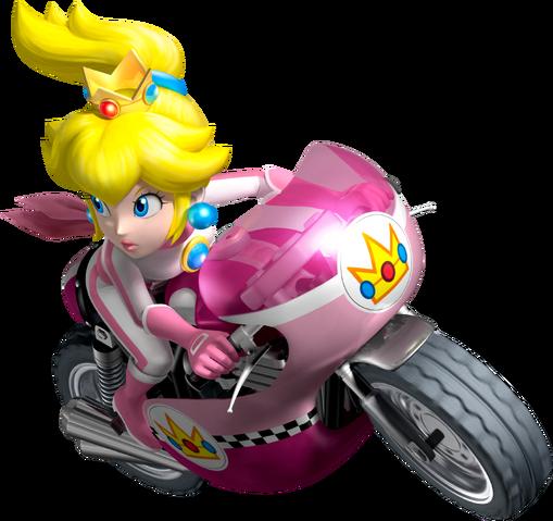 File:Peach Artwork - Mario Kart Wii.png