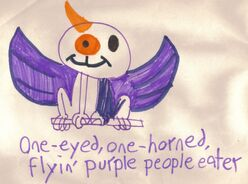 1I 1horn purple people eater