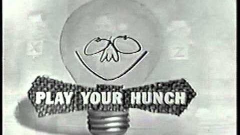 PLAY YOUR HUNCH opening credits game show
