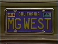 MG West License Plate