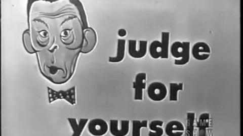 Judge For Yourself w FRED ALLEN - Debut Show - Intro by Orson Bean (August 18, 1953)