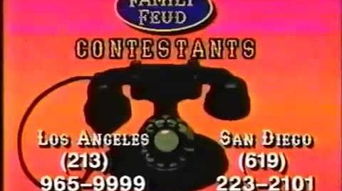 Family Feud contestant plug 2, 1993
