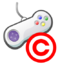 Copyrighted video game icon
