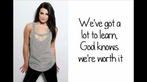 Glee - I Won't Give Up (Lyrics) HD
