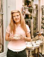 Ellie in tea party
