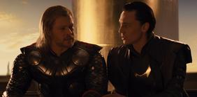 Thor and Loki talking.