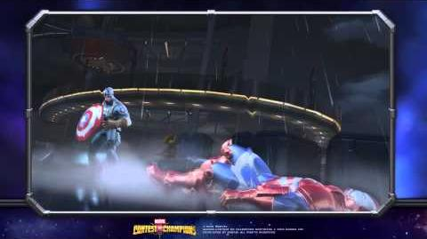WWII Captain America Special Moves Marvel Contest of Champions