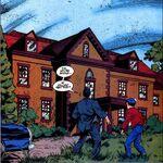 Wayne Manor abandoned and vandalized