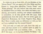 Doom Patrol Vol 1 121 Appeal