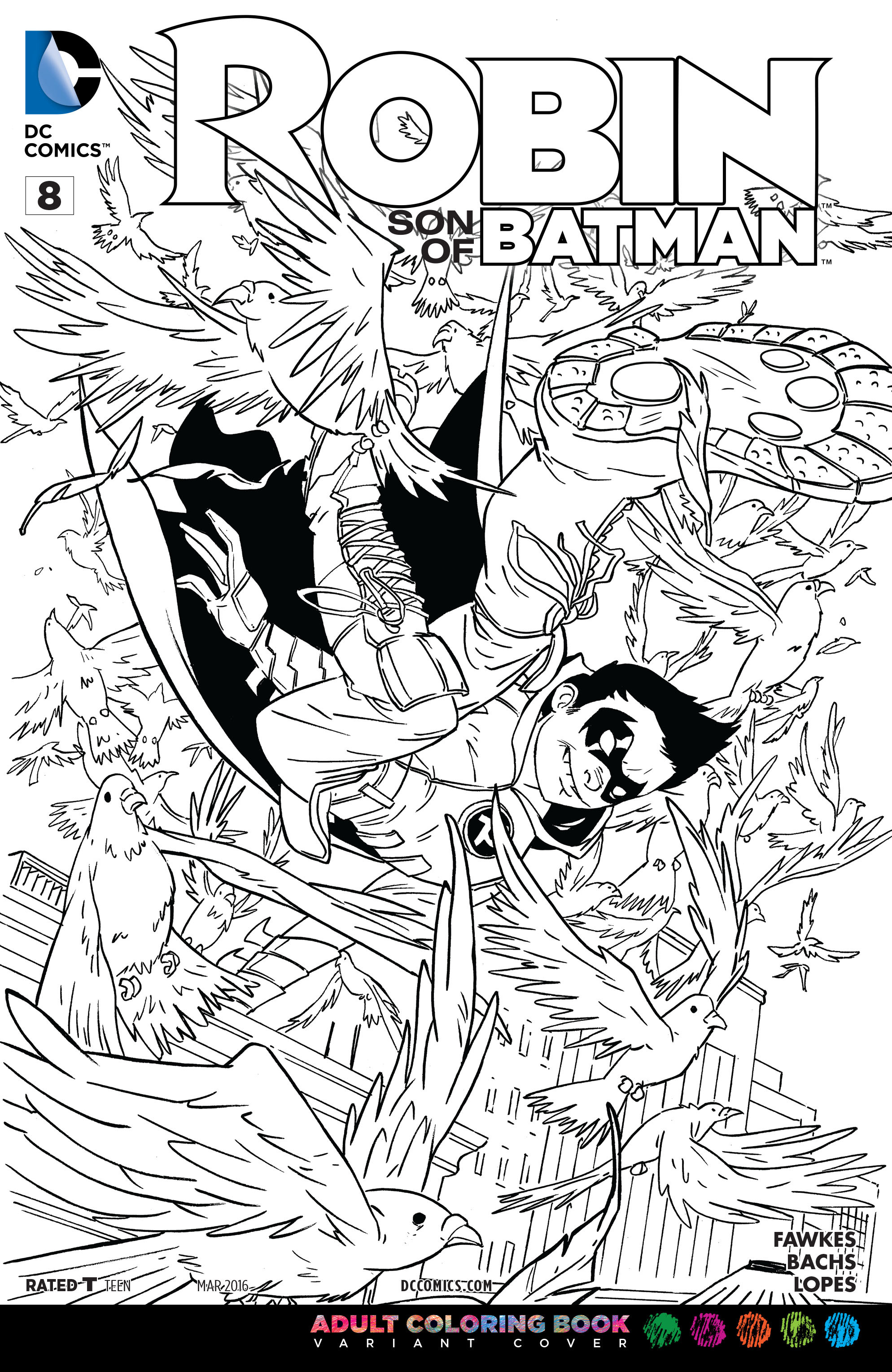image robin son of batman vol 1 8 coloring book variant