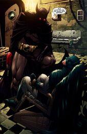Bat-Devil kidnaps Batman.