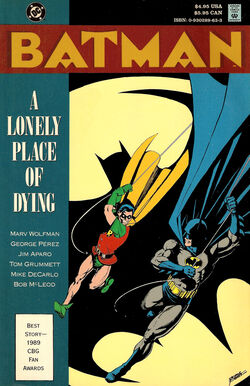 Cover for the Batman: A Lonely Place of Dying Trade Paperback