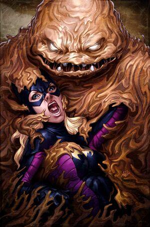 Clayface captures Stephanie Brown as Batgirl