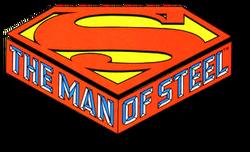 The Man of Steel (1986) logo
