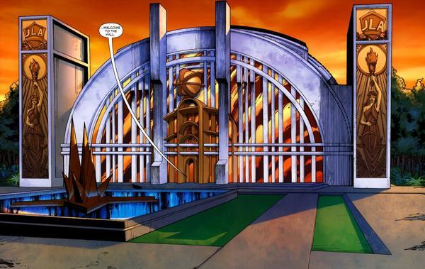 Resultado de imagen para hall of justice comics