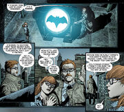 Jim Gordon lights the Bat-Signal for the first time.