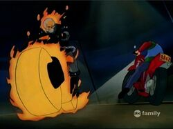 Ghost Rider Knocks Away Rick