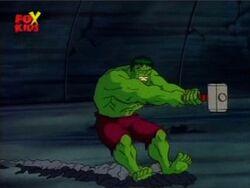 Mjolnir Drags Hulk