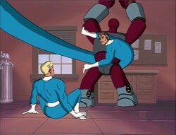 Mister Fantastic Saves Johnny From PM Robot
