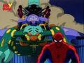 Tri-Slayer Hovers Behind Spider-Man.jpg
