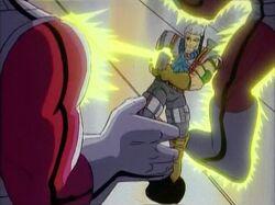 Cable Blasts Genosha Sentinels
