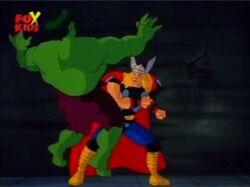 Thor Punches Hulk