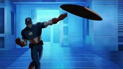Cap Throws Shield UA