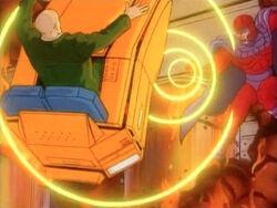 Magneto Blasts Xavier
