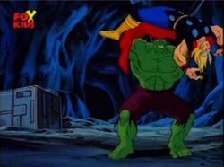 Hulk Throws Thor