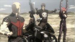 Punisher Captures Widow Hawkeye IMRT