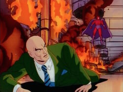 Xavier Crawls Away From Magneto