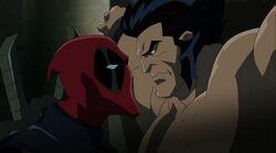 Deadpool Threatens Logan HV